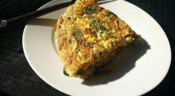 Syty omlet z kaszą gryczaną