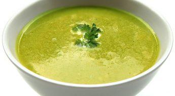 Szybki krem brokułowo szpinakowy